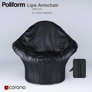 Lips Armchair  ARFLEX by Carlo Colombo 3d model