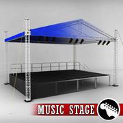 Muziek podium platform steigers 3d model