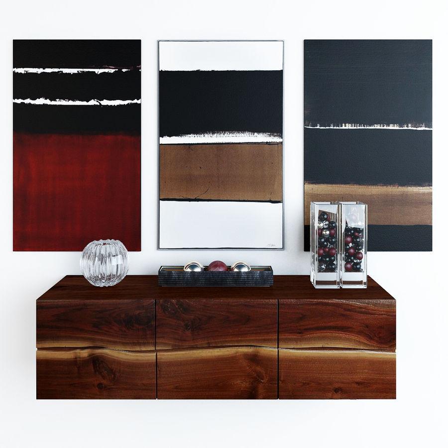 Decorative set royalty-free 3d model - Preview no. 1