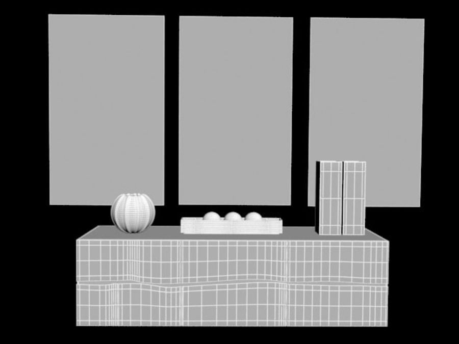 Decorative set royalty-free 3d model - Preview no. 5