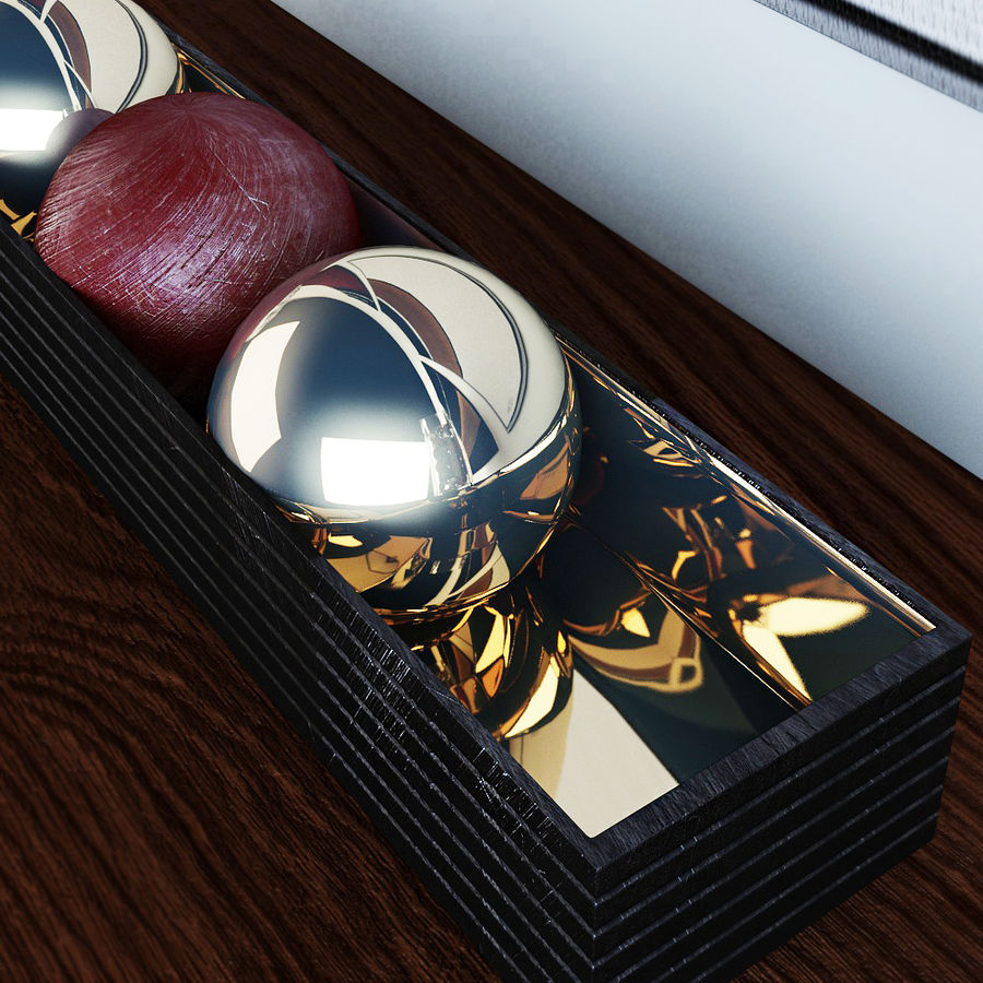 Decorative set royalty-free 3d model - Preview no. 3