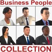 Коллекция деловых людей 3d model