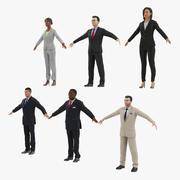 Kolekcja uzbrojonych ludzi biznesu 3d model
