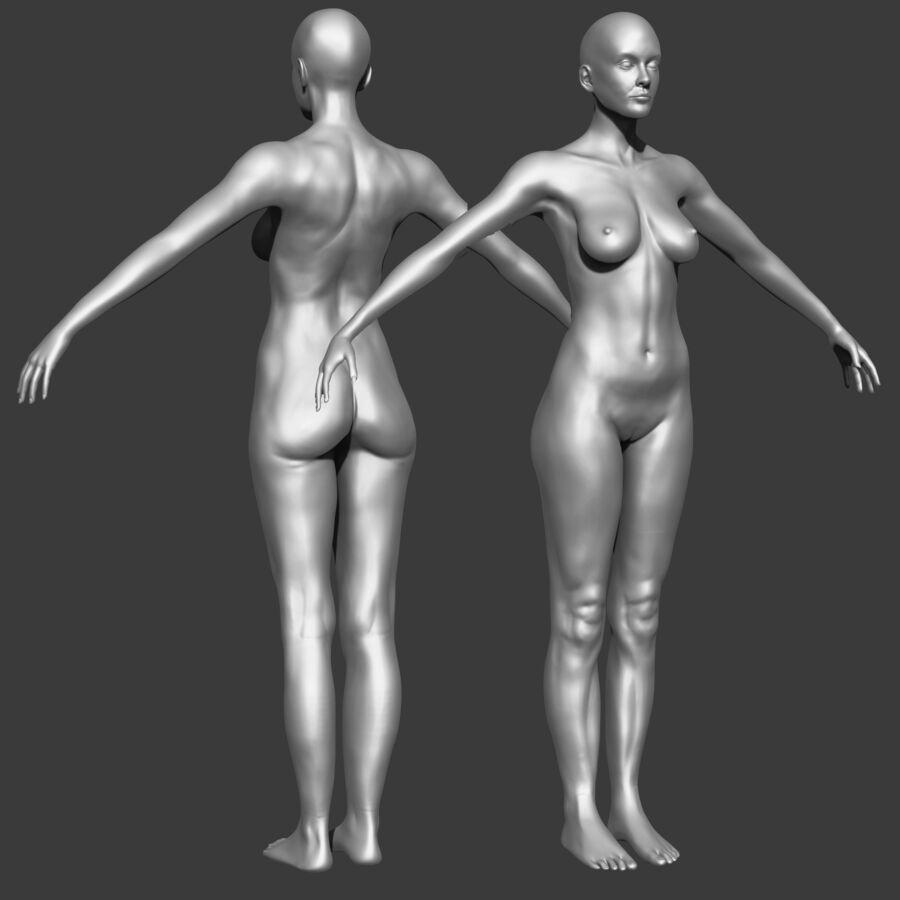 Femme américaine africaine truquée royalty-free 3d model - Preview no. 12