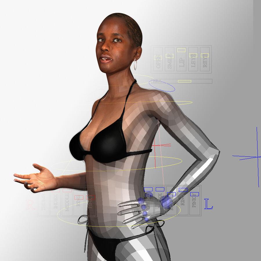 Femme américaine africaine truquée royalty-free 3d model - Preview no. 7