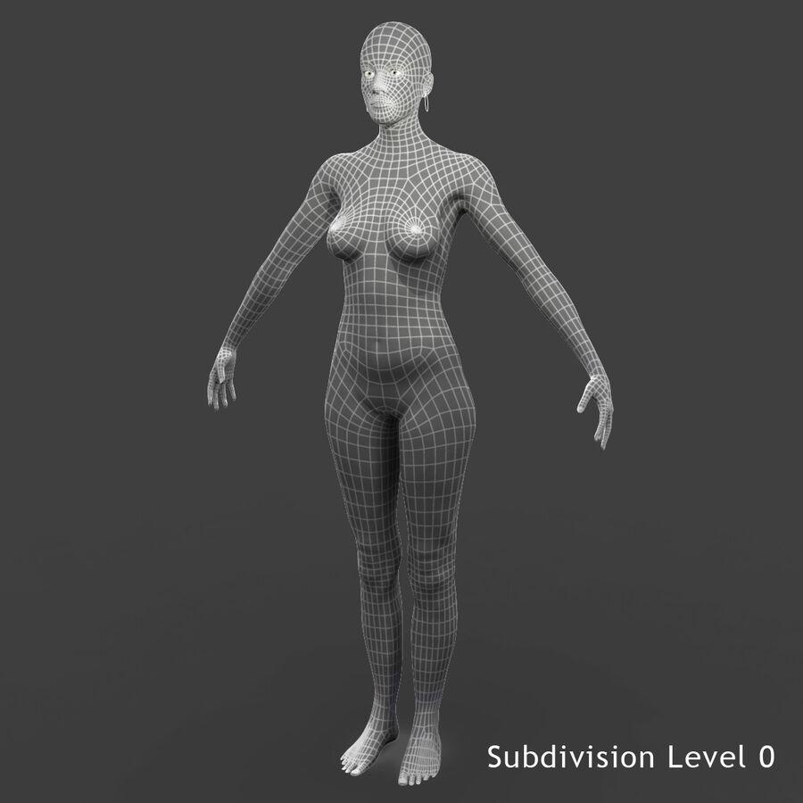 Femme américaine africaine truquée royalty-free 3d model - Preview no. 8