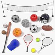 Set di sport 3d model