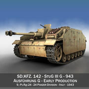StuG III - Ausf.G - 943 - Раннее производство 3d model