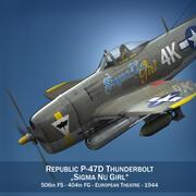 República P-47D Thunderbolt - Sigma Nu Girl 3d model