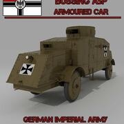 BUSSING A5P ARMOURED CAR 3d model