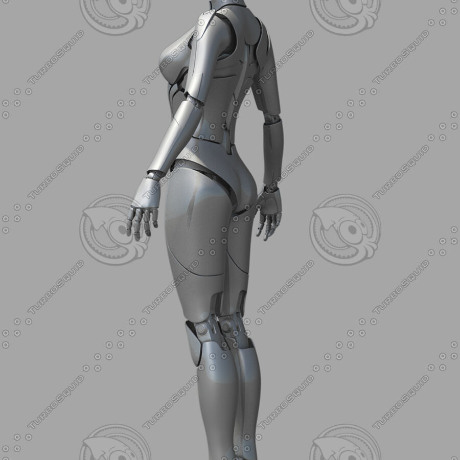 Female Cyborg Robot royalty-free 3d model - Preview no. 12