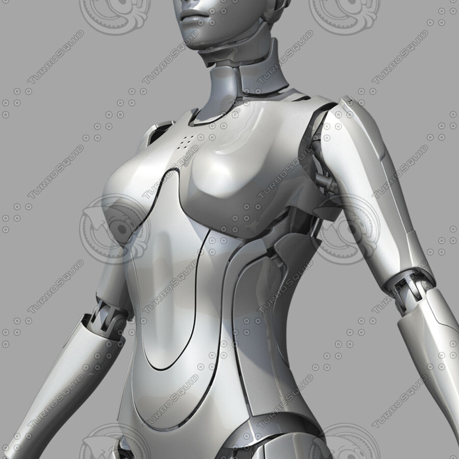Female Cyborg Robot royalty-free 3d model - Preview no. 17
