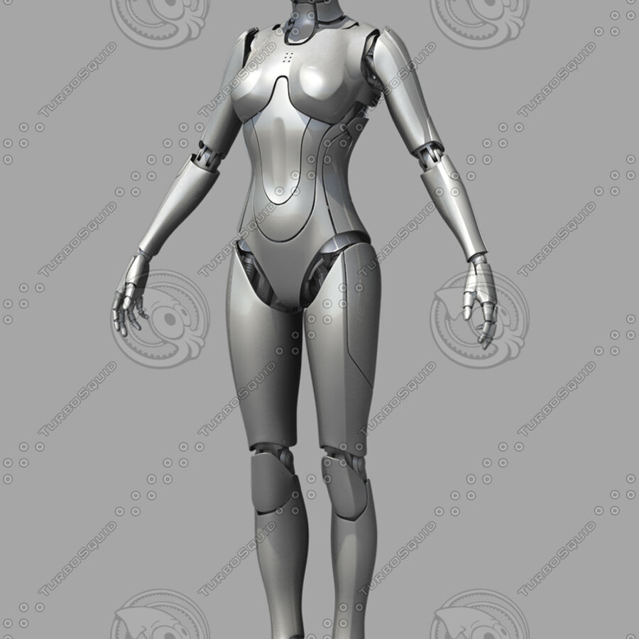 Female Cyborg Robot royalty-free 3d model - Preview no. 8