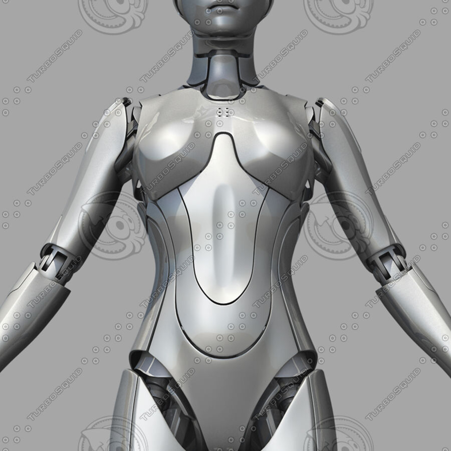 Female Cyborg Robot royalty-free 3d model - Preview no. 10
