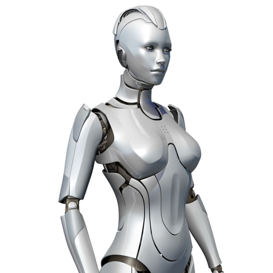 Female Cyborg Robot royalty-free 3d model - Preview no. 1