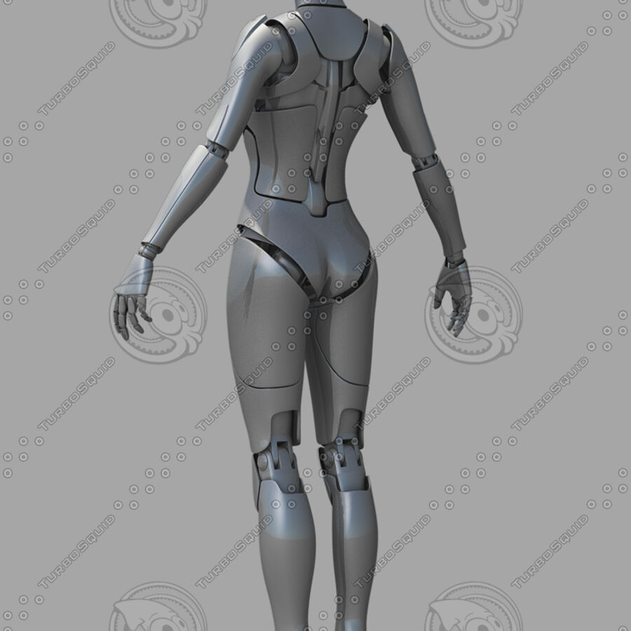 Female Cyborg Robot royalty-free 3d model - Preview no. 13