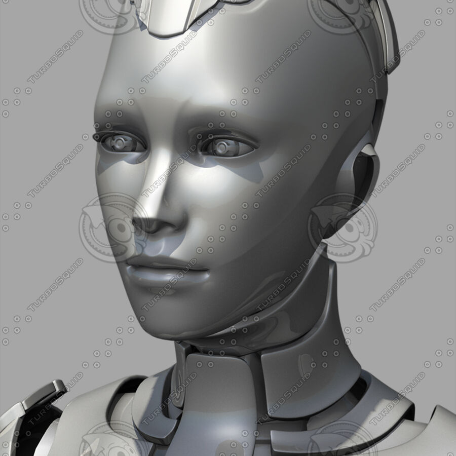 Female Cyborg Robot royalty-free 3d model - Preview no. 20