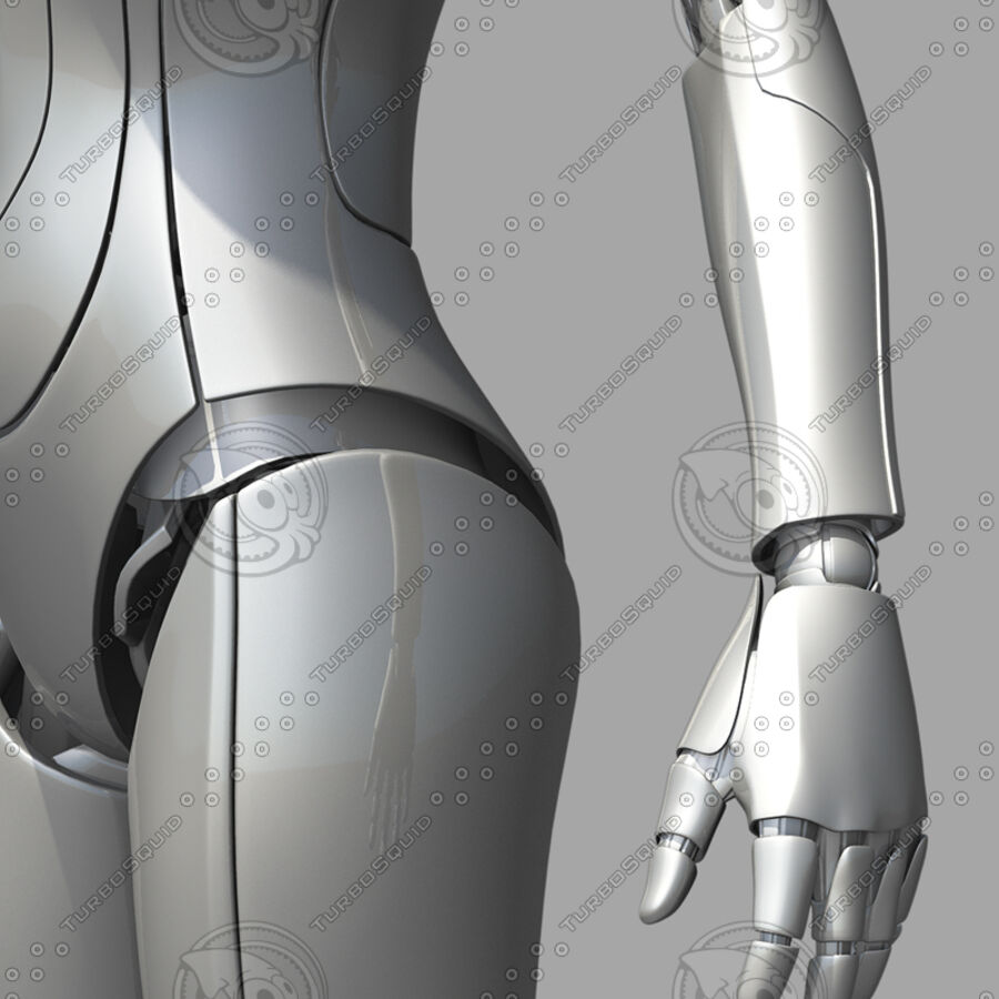 Female Cyborg Robot royalty-free 3d model - Preview no. 15