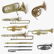 Musikinstrumente aus Messing 3d model
