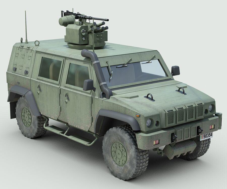 Militärjeep royalty-free 3d model - Preview no. 6