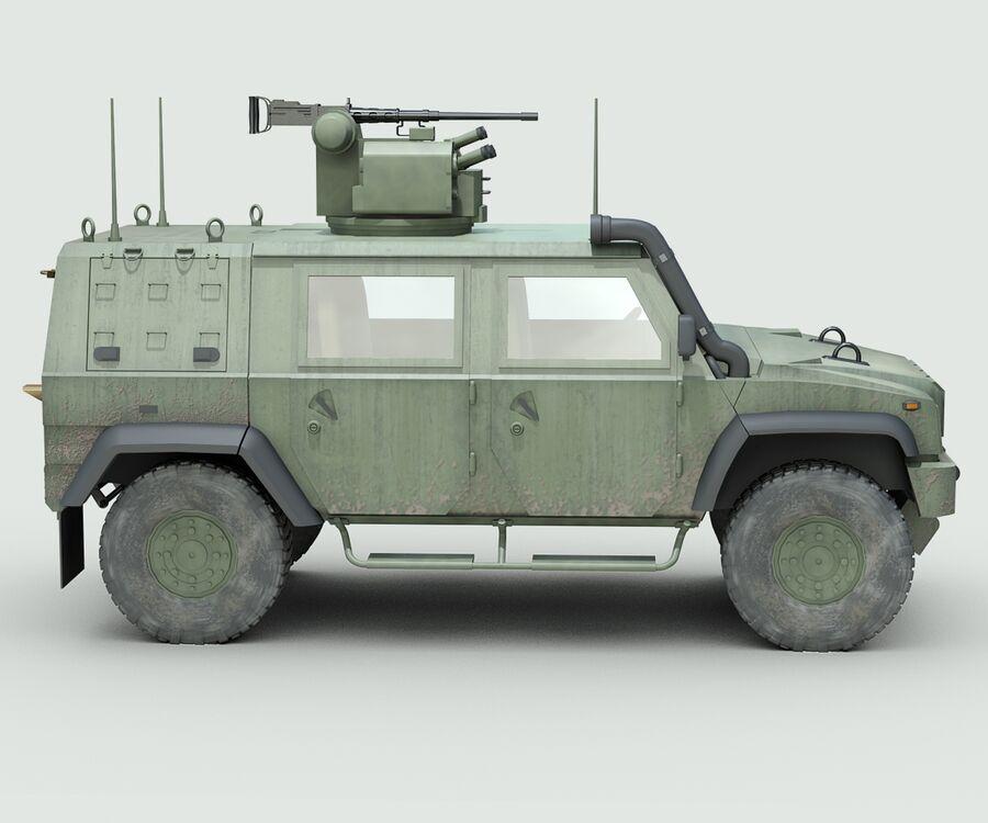 Militärjeep royalty-free 3d model - Preview no. 5