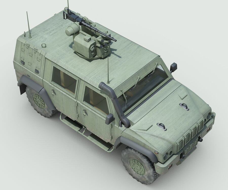 Militärjeep royalty-free 3d model - Preview no. 7