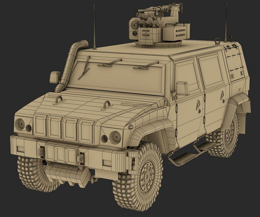 Militärjeep royalty-free 3d model - Preview no. 12