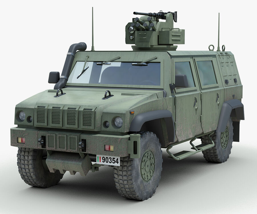Militärjeep royalty-free 3d model - Preview no. 1