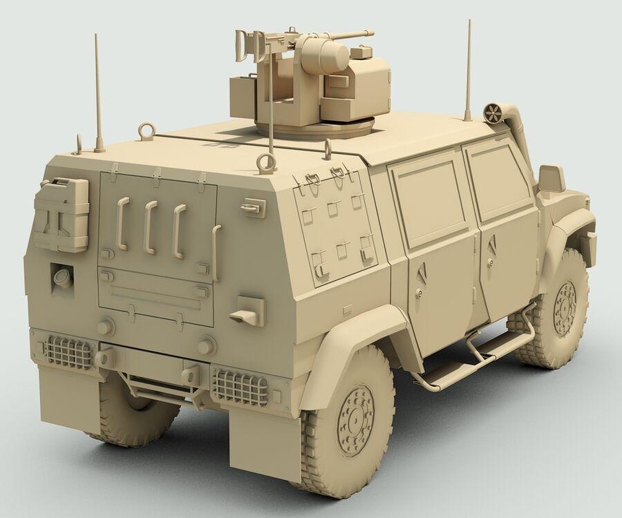 Militärjeep royalty-free 3d model - Preview no. 10