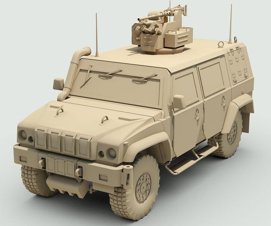 Militärjeep royalty-free 3d model - Preview no. 9
