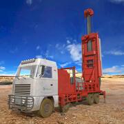 Drilling Truck 3d model