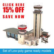 Air Traffic Control Towers Set 3d model