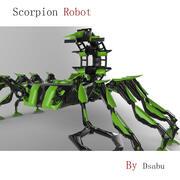 전갈 로봇 3d model
