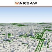 Warschau Stadt abgeschlossen 3d model