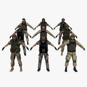 Askeri Asker Koleksiyonu 3d model
