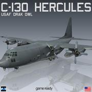 Lockheed C-130 Hercules DARK OWL 3d model