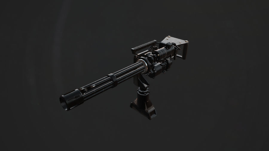 Minigun royalty-free modelo 3d - Preview no. 2