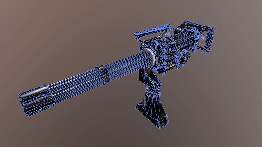 Minigun royalty-free 3d model - Preview no. 6