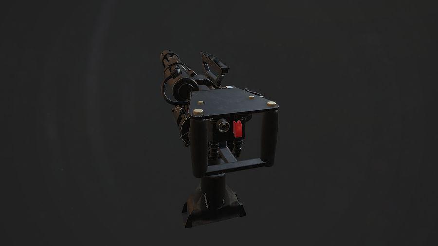 Minigun royalty-free 3d model - Preview no. 3