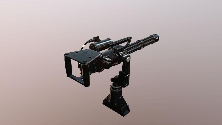 Minigun royalty-free modelo 3d - Preview no. 4