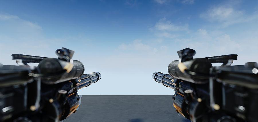 Minigun royalty-free 3d model - Preview no. 1