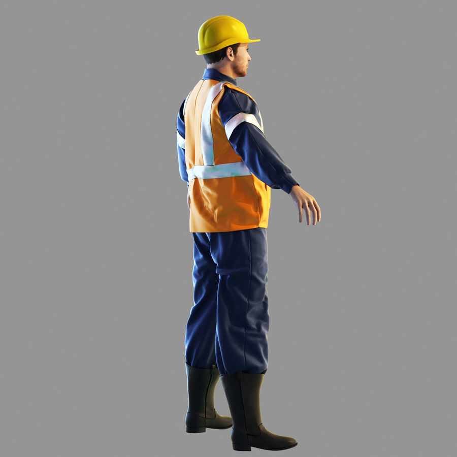 Worker royalty-free 3d model - Preview no. 3