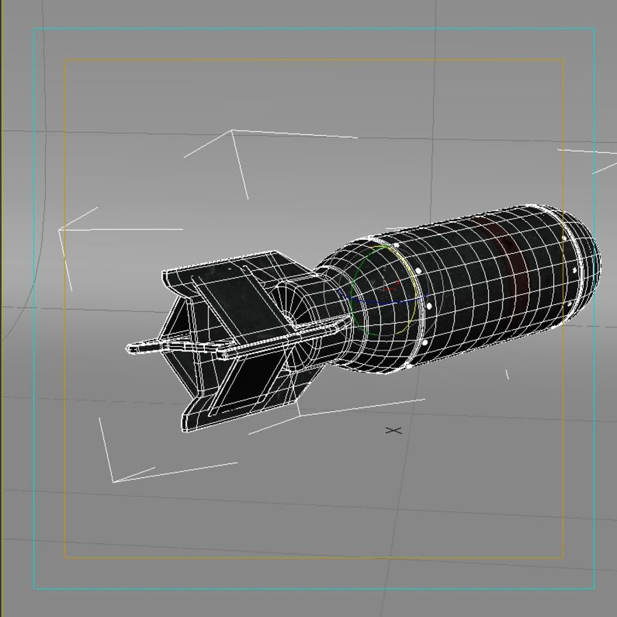 Bomb WWII royalty-free 3d model - Preview no. 5