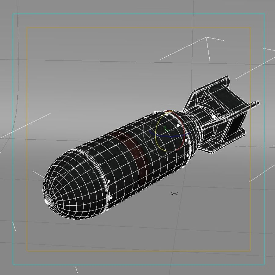 Bomb WWII royalty-free 3d model - Preview no. 7