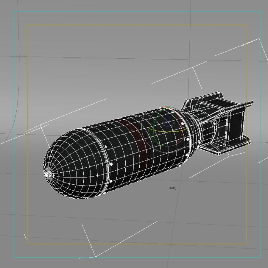 Bomb WWII royalty-free 3d model - Preview no. 6