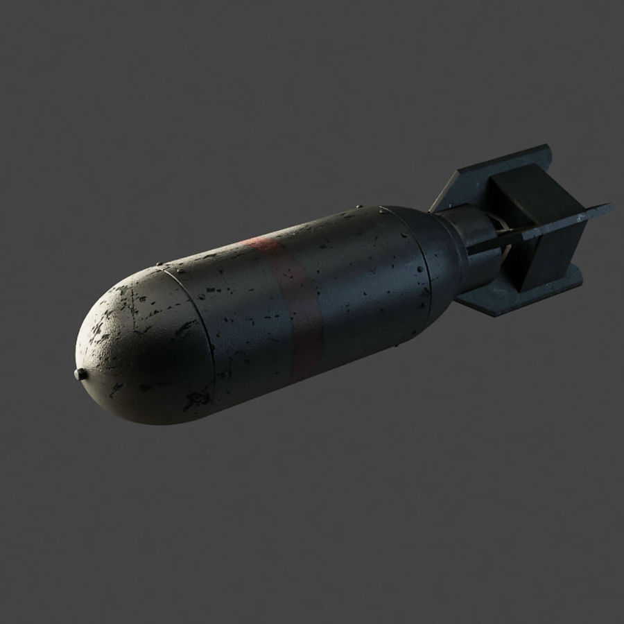 Bomb WWII royalty-free 3d model - Preview no. 1