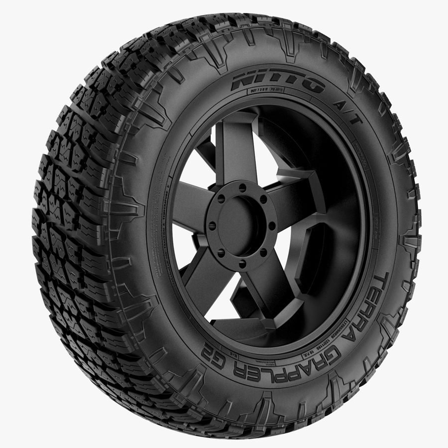 Off Road Wheel NITTO & ROCKSTAR royalty-free 3d model - Preview no. 5