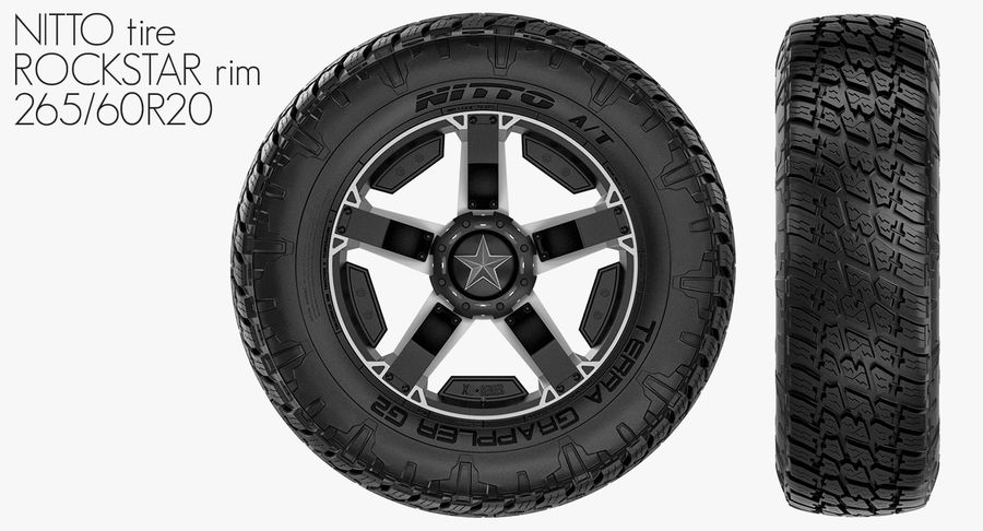Off Road Wheel NITTO & ROCKSTAR royalty-free 3d model - Preview no. 2