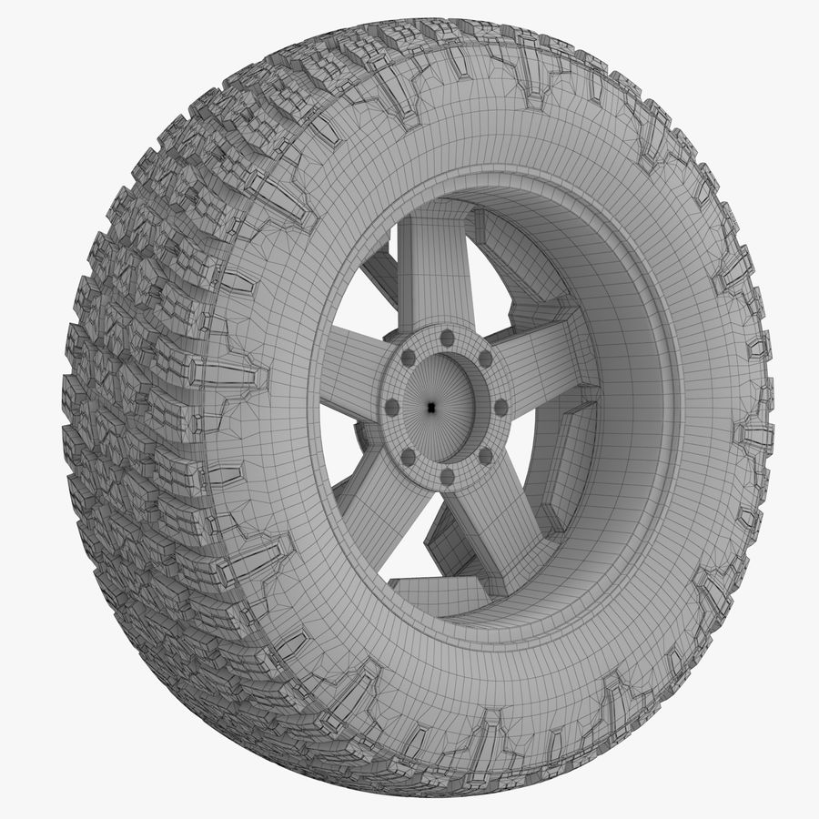 Off Road Wheel NITTO & ROCKSTAR royalty-free 3d model - Preview no. 8