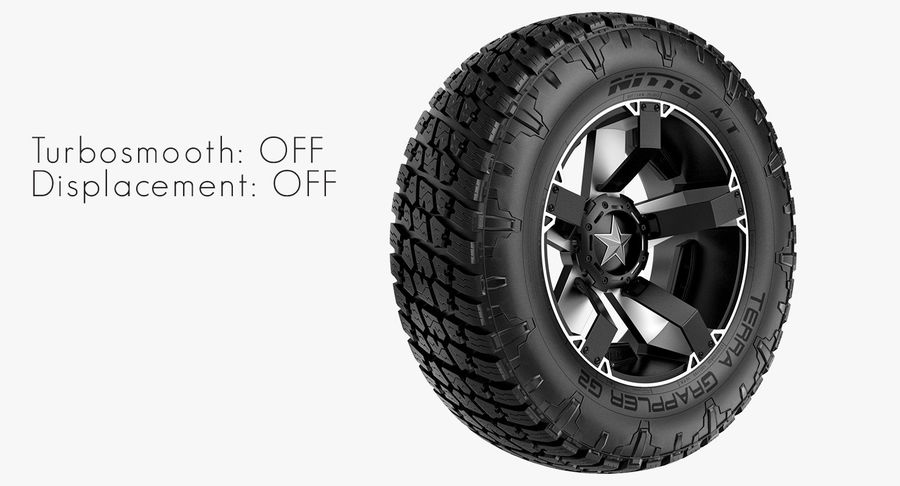 Off Road Wheel NITTO & ROCKSTAR royalty-free 3d model - Preview no. 6
